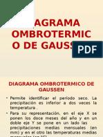 Diagrama Ombrotermico de Gaussen