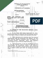 OSGeneral Manifestation (In ieu of Rejoinder) filed-on January, 2017.pdf