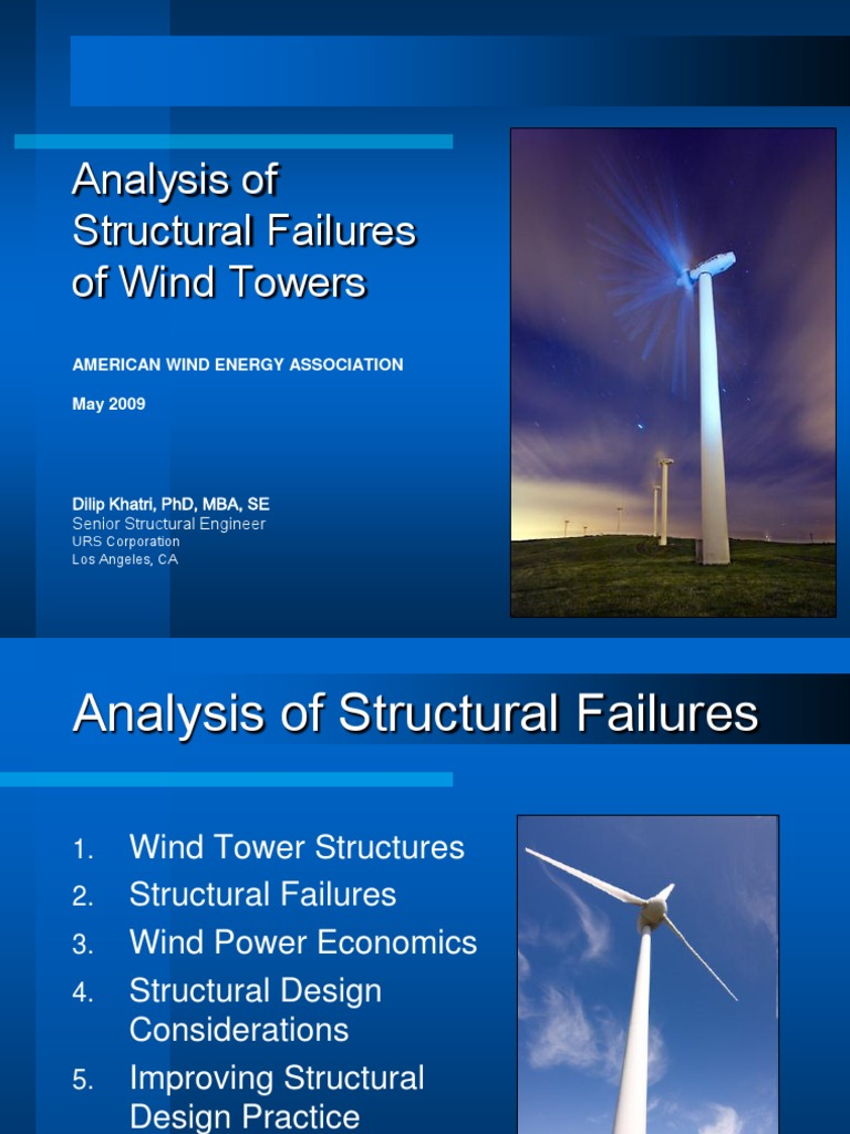 Cooling Tower Failure Wind Power Turbine