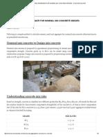 Cement Sand and Aggregate for Nominal Mix Concrete Grades - Civil Rndcivil Rnd