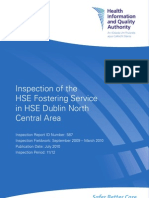 Inspection of the HSE Fostering Service in HSE Dublin North Central Area - July 14 2010