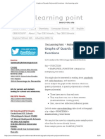 Graphs of Quartic Polynomial Functions - The Learning Point