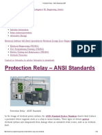 Protection Relay - ANSI Standards _ EEP