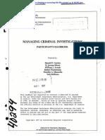 Managing Investigations