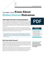 What We Know About Online Course Outcomes