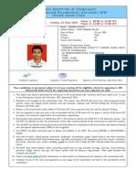 Ashish Admat Card