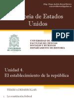 Unidad 4 El Establecimiento de La República - Historia de EEUU