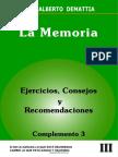 La Memoria - Consejos, Ejercicios y Recomendaciones