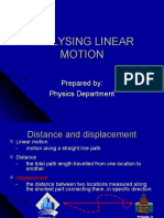 2.1analysing Linear Motion