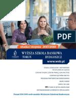 Informator 2017 - studia I stopnia - Wyższa Szkoła Bankowa w Toruniu