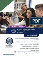 Informator 2017 - studia II stopnia - Wyższa Szkoła Bankowa w Opolu