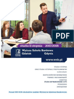Informator 2017 - studia II stopnia - Wyższa Szkoła Bankowa w Gdańsku