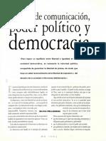 Medios de Comunicación, Poder Politico y Democracia