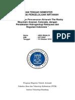 UTS - AT6009 _Pengelolaan Airtanah_Aris Rinaldi_22715007
