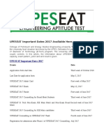 UPESEAT 2017 Important Dates Available Here