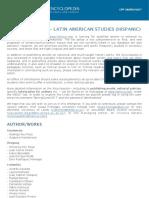 CFP - Latin American Studies