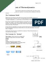 Lecture 1 - Basics of Thermodynamics
