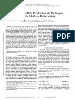 Carbon Disulfide Production via Hydrogen Sulfide Methane Reformation