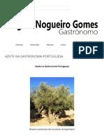 Azeite Na Gastronomia Portuguesa