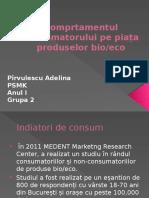 Comprtamentul Consumatorului Pe Piața Produselor Bio