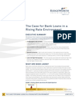 The Case for Bank Loans in Rising Rate Environment