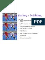 hockey dribbling skill card