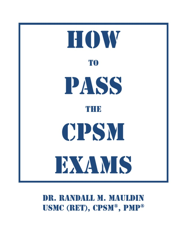 cpsm certification