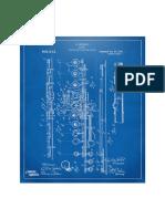 1908 Flute Patent Blueprint Nikki Marie Smith