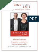 Dossier de Presse - Déclaration de Candidature