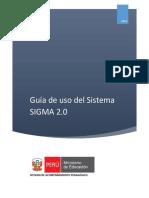 Guia Del Uso Del Sistema SIGMA 2.0