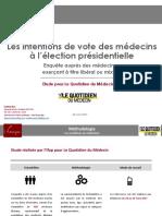 Election présidentielle et sondage des médecins