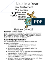 Bible in a Year 36 NT Matthew 20 to 28