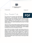 Prime Ministers Letter to European Council President Donald Tusk