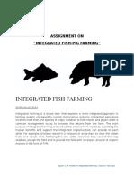 Aquaculture- Integrated Pig and Fish farming