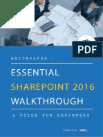 Whitepaper Essential SharePoint 2016 Walkthrough
