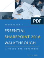 Whitepaper Essential SharePoint 2016 Walkthrough