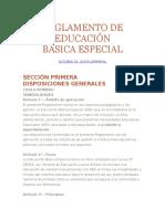 Reglamento de La Educación Básica Especial