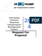 Harbor Transit RFP Automated Demand Response Transportation Management System