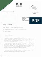 Lettre de l'ASN à EDF le 16 Mai 2006 et constats