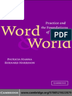Patricia Hanna, Bernard Harrison-Word and World_ Practice and the Foundations of Language -Cambridge University Press (2003).pdf