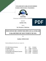 Influence de l'Effet de Site Local Sur Les Paramètres de Mouvement de Sol (1)
