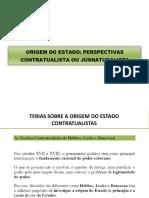 Origem Do Estado - Naturalismo e Contratualismo (1)
