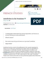 Autofiction in the Feminine _ French Studies _ Oxford Academic