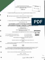 SEK - Form 20-F for FY2001
