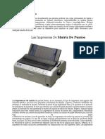 Clases de Impresoras