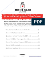eBook - How to Develop Your DBA Career