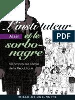 L'Instituteur Et Le Sorbonagre