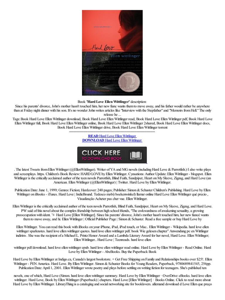 link hard love ellen wittlinger pdb avis magasin en ligne livre ereader i books electronic publishing