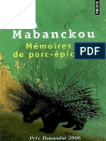 Mabanckou Alain M Moires de Porc Pic