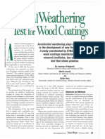Weathering for Wood Coatings